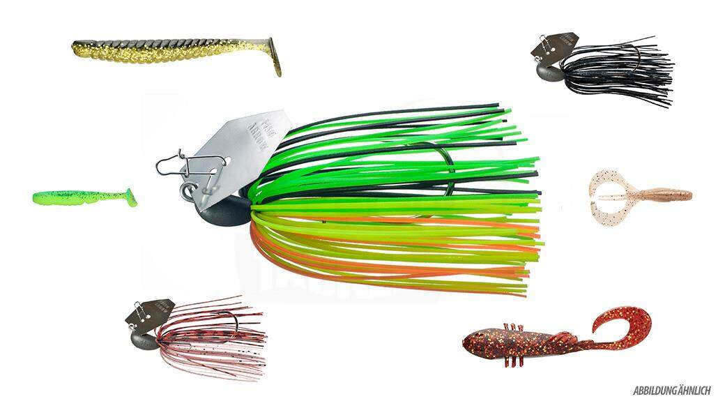 Starterpaket Chatterbaits mit Trailer
