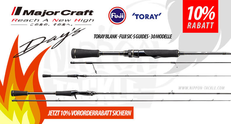 Major Craft DAYS Ruten - vororder mit 10% Rab